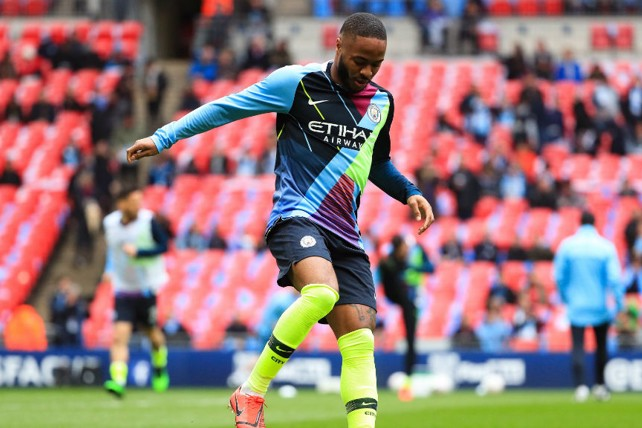 ee79f815389 STERLING SILVER: Raheem sports the mash up of shirts which have seen us win  six