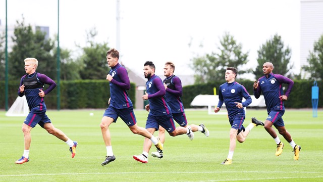 JOG ON: The City squad go through the gears