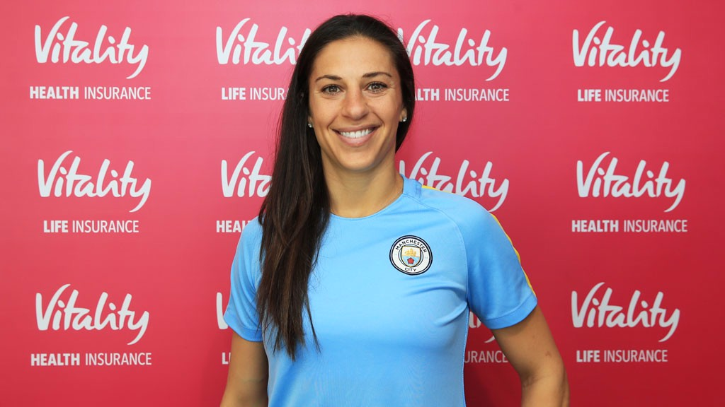 FLYING COLOURS: Carli Lloyd prepares for her medical