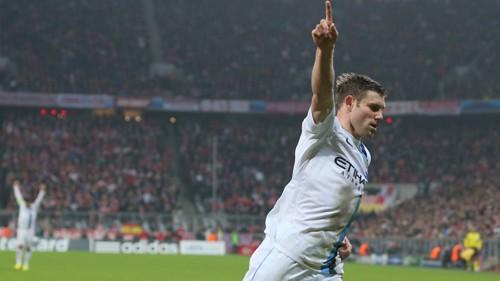 James goal