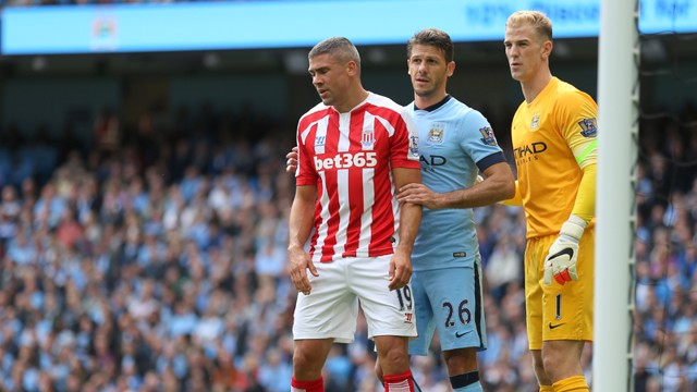 Joe Hart and Martin Demichelis