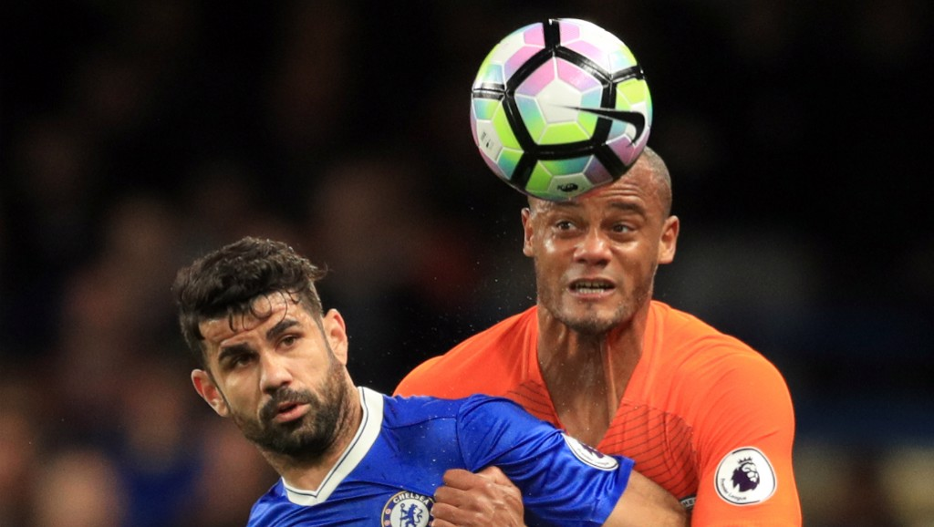 REAL TEST: Kompany looking to get the better of Costa