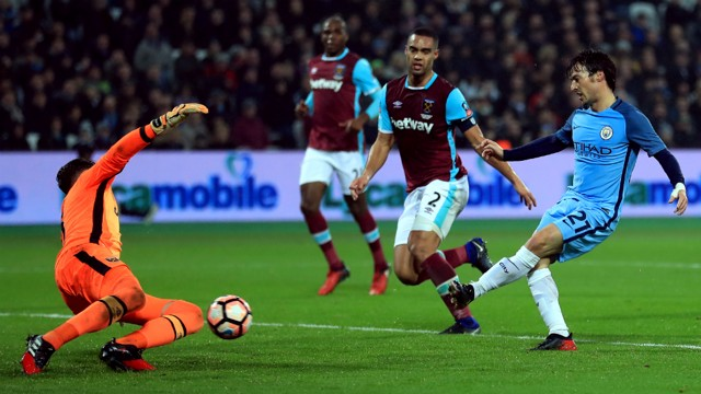 COOL: David Silva took his time and picked his spot for City's third at West Ham