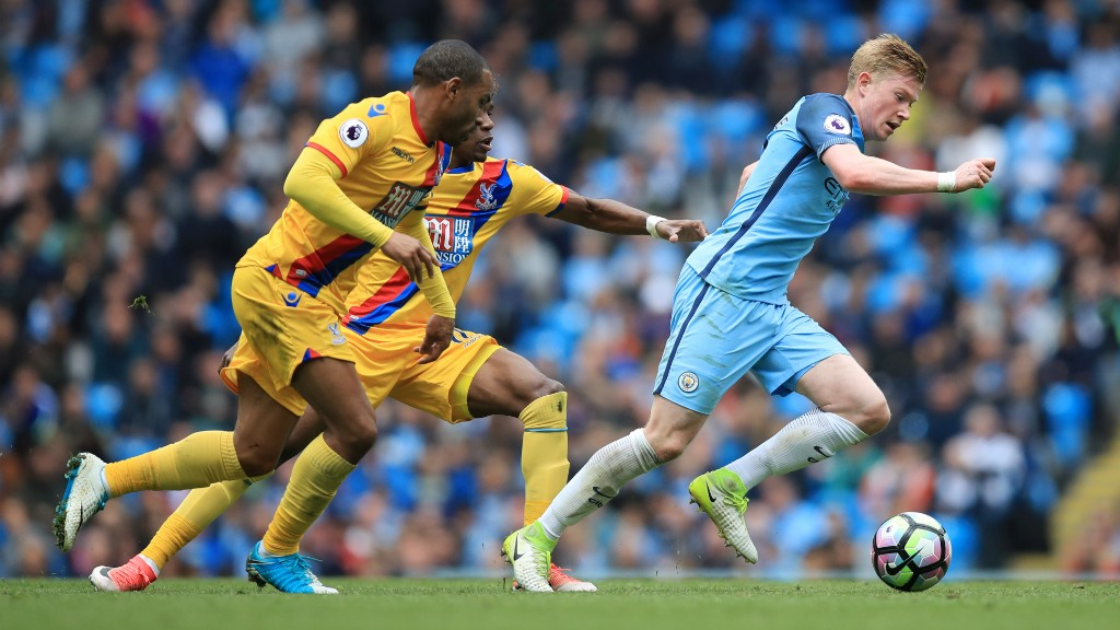 TURN AND GO: De Bruyne bursts away from Jason Puncheon.