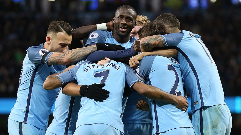 GET IN THERE: Elation as Sergio Aguero doubles the lead