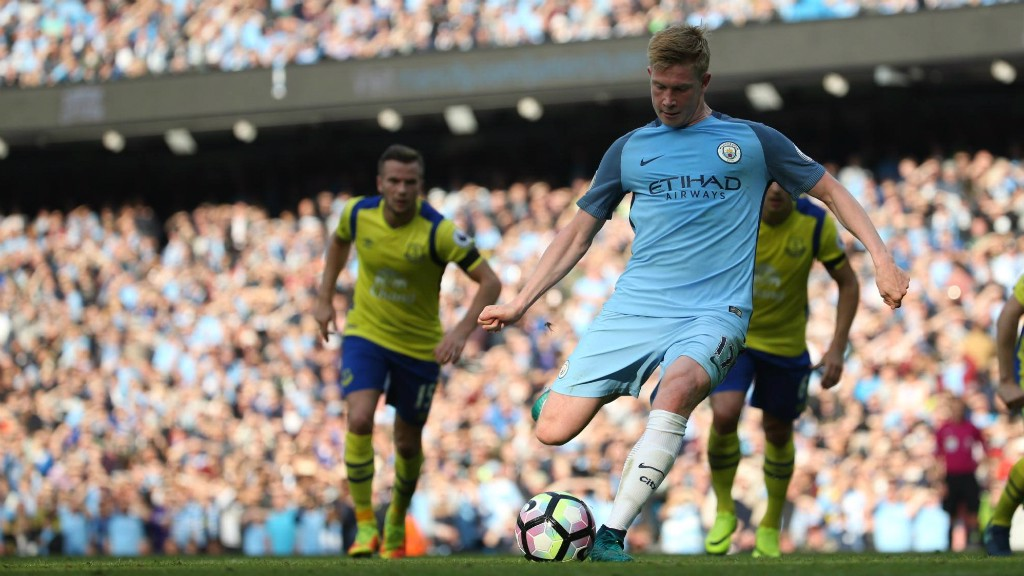 SPOT OF BOTHER: Kevin De Bruyne's penalty was saved