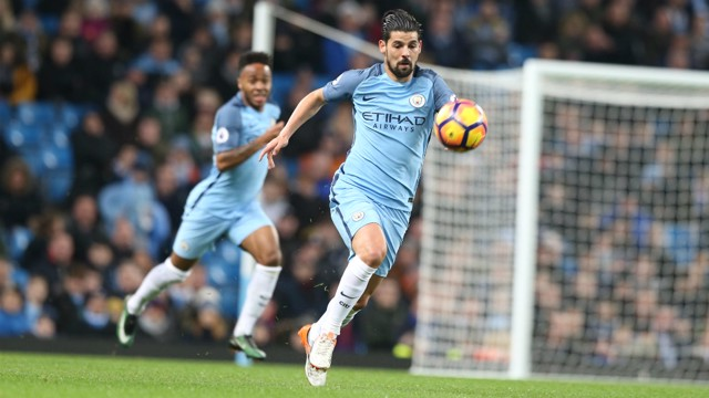 EFFORT: Nolito strides forward