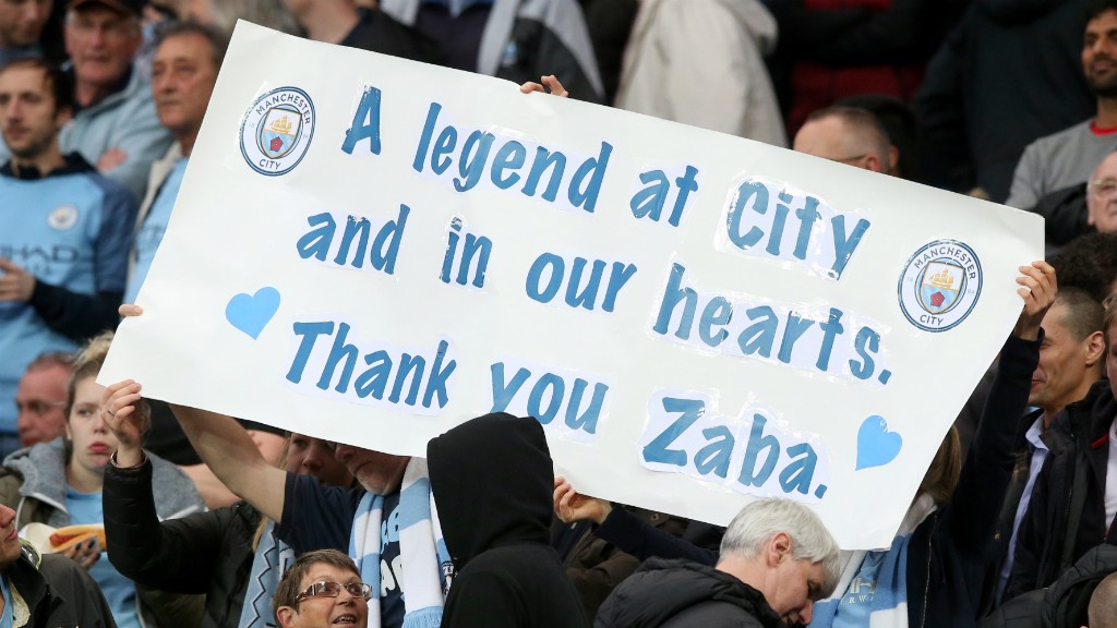 THANK YOU ZABA: The fans acknowledge a Club legend