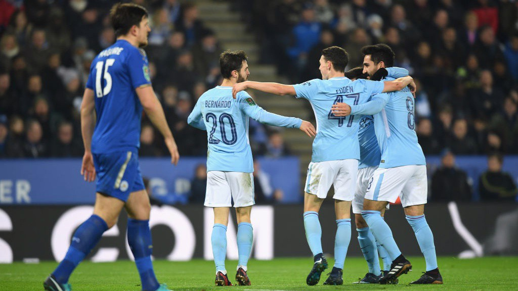BERNARDO BRILLIANCE: City's goalscorer celebrates his second goal of the season.