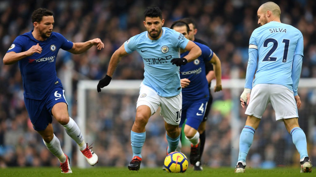 FOCUS: Sergio Aguero in action at the Etihad.