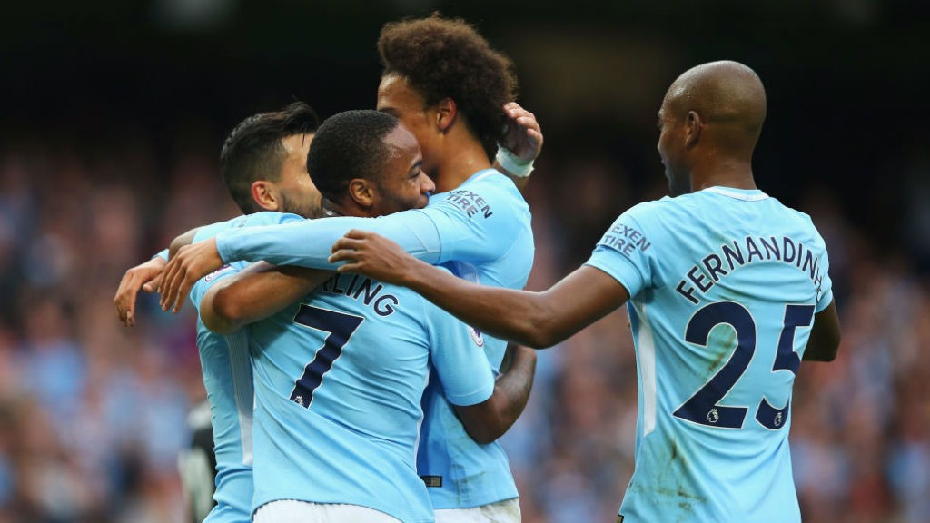 ON FIRE: The goals are flying in for City right now