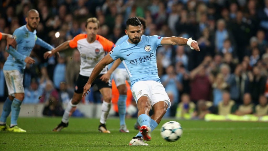 SPOT OF BOTHER: Sergio Aguero's penalty is saved