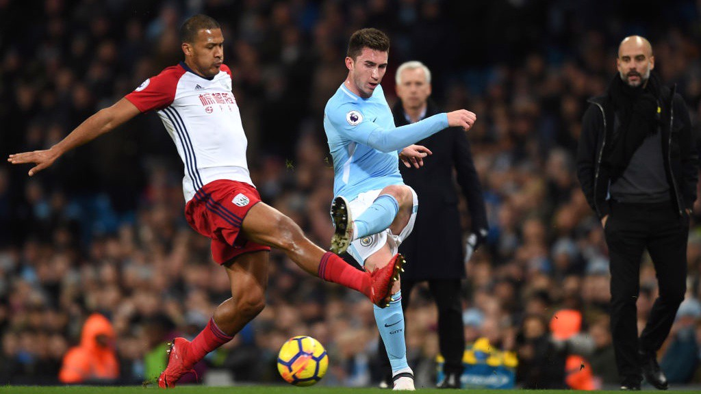 COMPOSURE: Aymeric Laporte made a solid start to his City debut.
