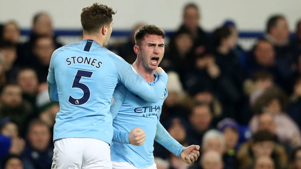 PASSIONATE: Laporte is clearly delighted to grab his second league goal this season