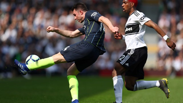 USUALLY TACKLE: Aymeric Laporte stops Ryan Babel in his tracks