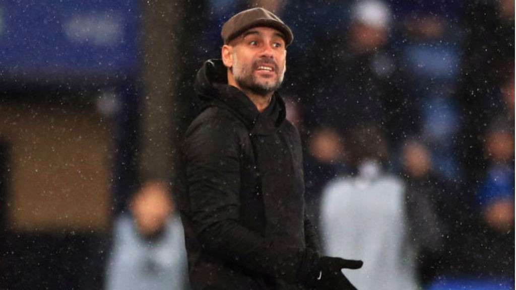 GUIDING VOICE: Pep Guardiola urges City on
