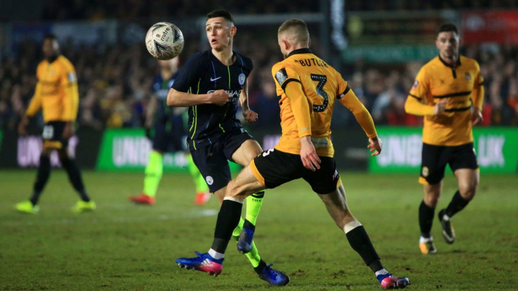 OUR PHIL: Two goals in the bag from Stockport-born Phil Foden.
