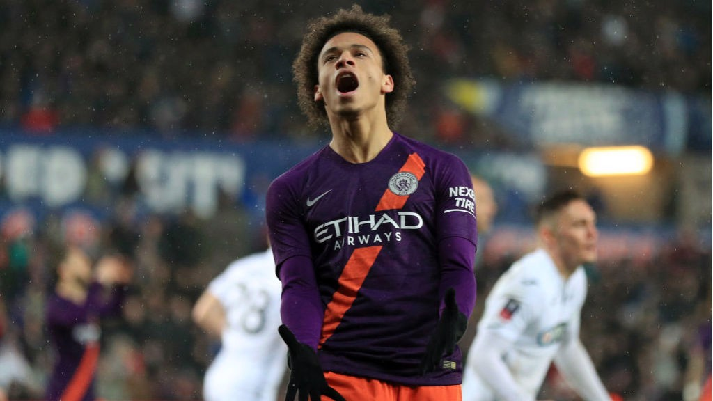 FRUSTRATION: Leroy Sane can't believes it after another chance goes begging