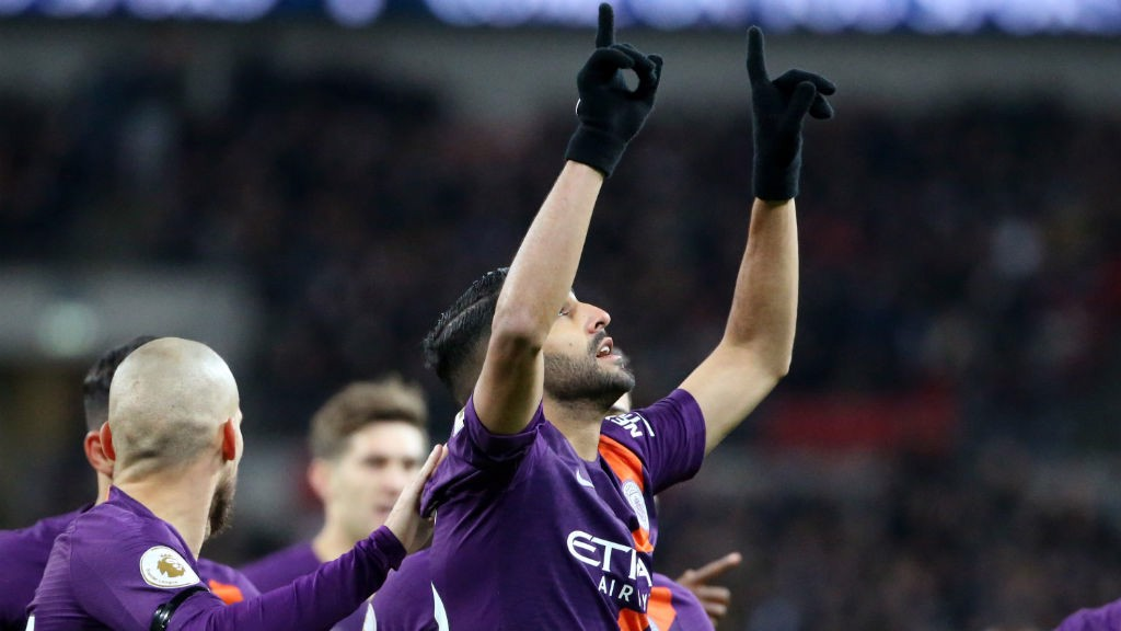 MAHREZ:  Riyad celebrates after his early goal.