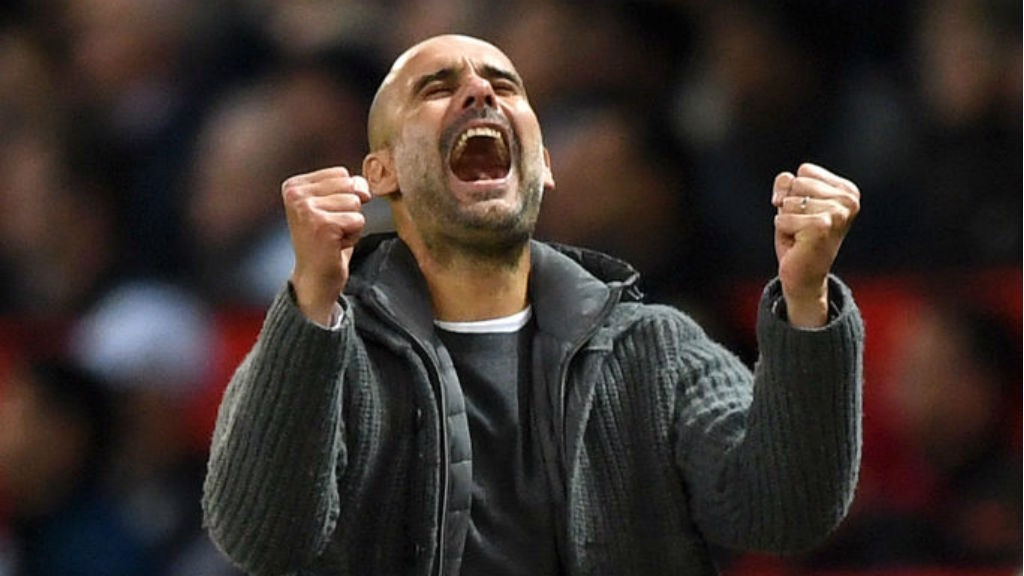 GET IN: Pep sums up the feeling of us all after Leroy's second goal