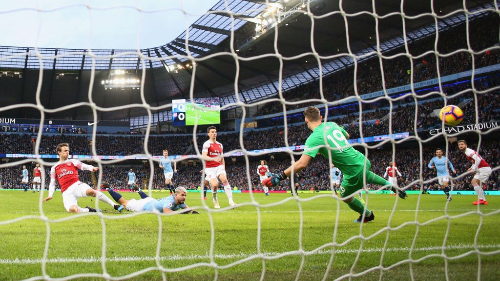 DIVING HEADER: Early breakthrough for City and Sergio Aguero.