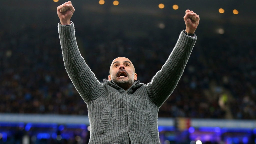 FULL TIME: Pep's reaction says it all...