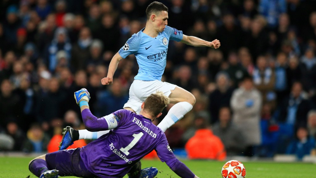 PHIL OF THE FUTURE: Youngster Phil Foden gets in on the act, rounding the 'keeper and slotting home!