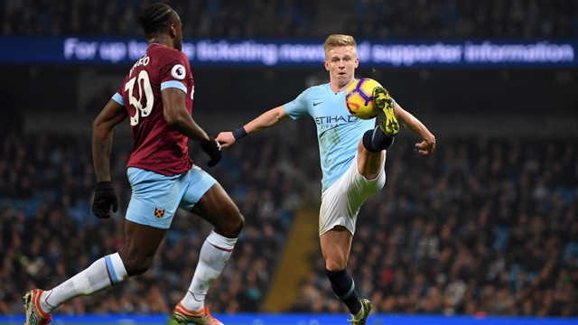 POLISHED: Another impressive outing for Oleks Zinchenko