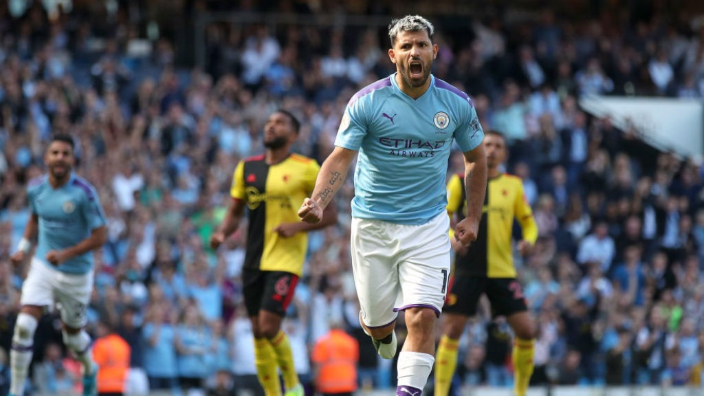 100 UP: Sergio can't contain his joy after his extra special goal