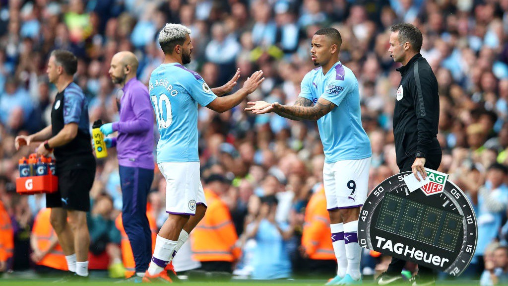 FIREPOWER: Pep Guardiola turned to the bench amid City's hunt for a winner.