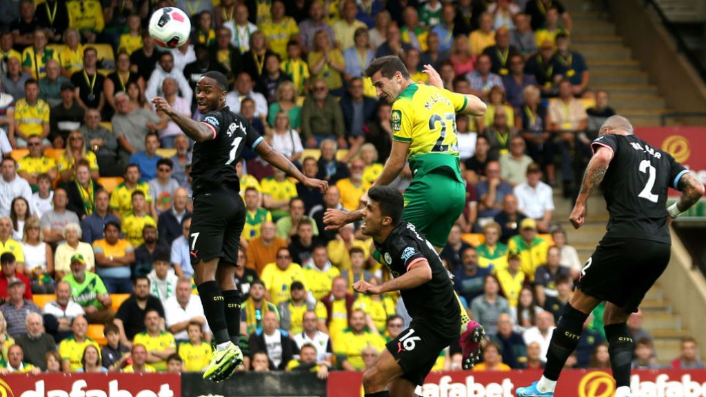GOAL: McLean headed Norwich in front after 18 minutes.