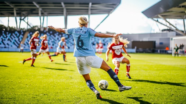 CAPTAIN FANTASTIC: Steph Houghton in action