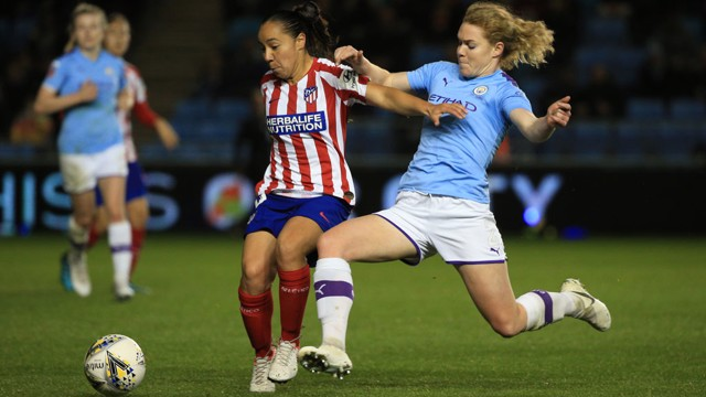 ACTION SHOT: Aoife Mannion puts the pressure on