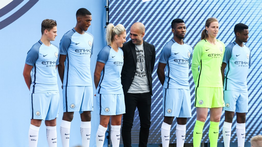 NEW ERA  The 2016 17 Nike kit was unveiled at the Cityzens Weekend event 2dc92cb3d
