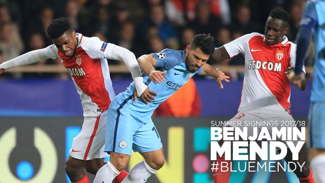 BLUE MENDY: Benjamin Mendy has signed for City from Monaco