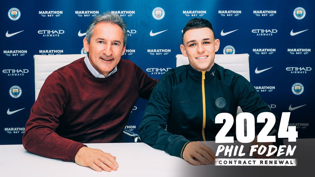 ONE OF OUR OWN: Phil Foden has put pen to paper on a new deal until 2024
