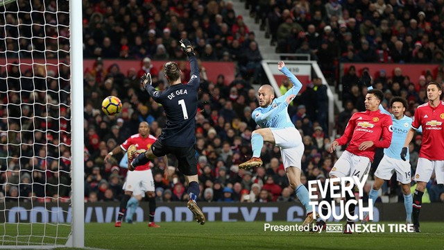 DAVID SILVA: We look at the Spaniard's every touch against Manchester United.