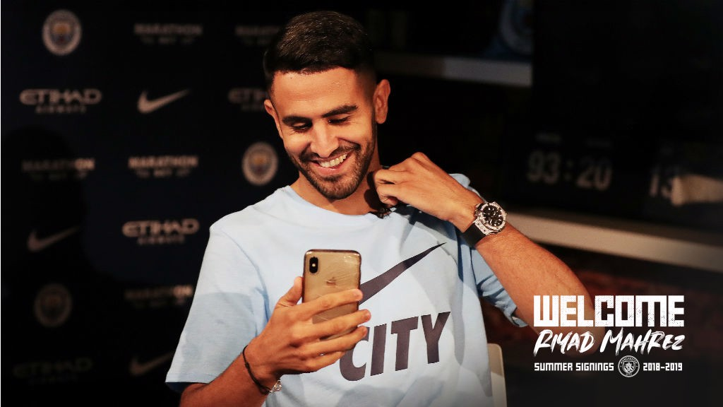 NEW ARRIVAL: Riyad Mahrez has completed his move to Manchester City