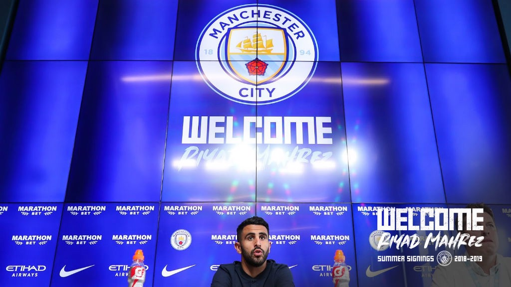 WELCOME RIYAD: City's new signing addressed the media on Thursday
