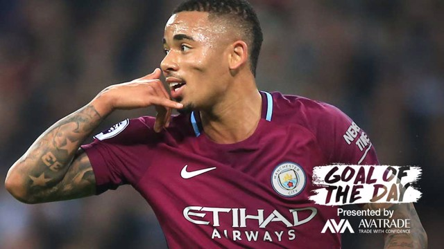 GOTD: Gabriel Jesus' strike from our 3-1 win last season is today's Goal of the Day