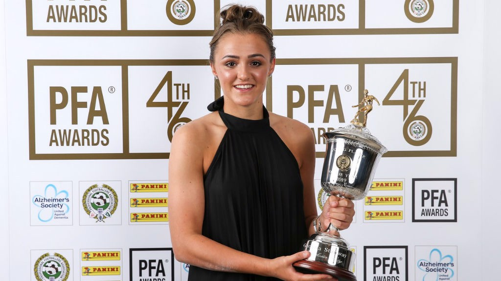 PFA AWARD: Georgia Stanway won the women's Young Player of the Tear prize