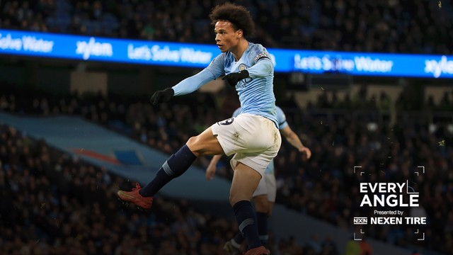 EVERY ANGLE: Relive Leroy Sane's fine strike against Cardiff from every available camera angle