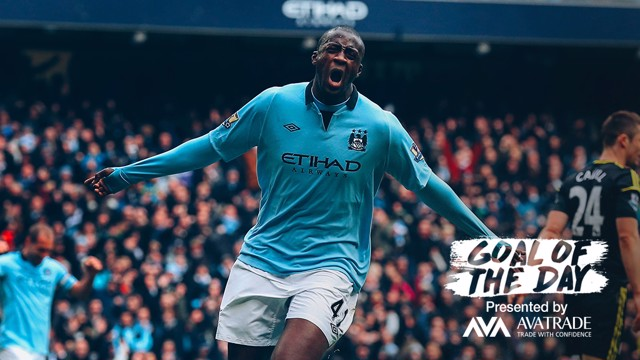 GOTD: Today's goal of the day is an exquisite curling effort from Yaya Toure against this Sunday's opponents back in 2013