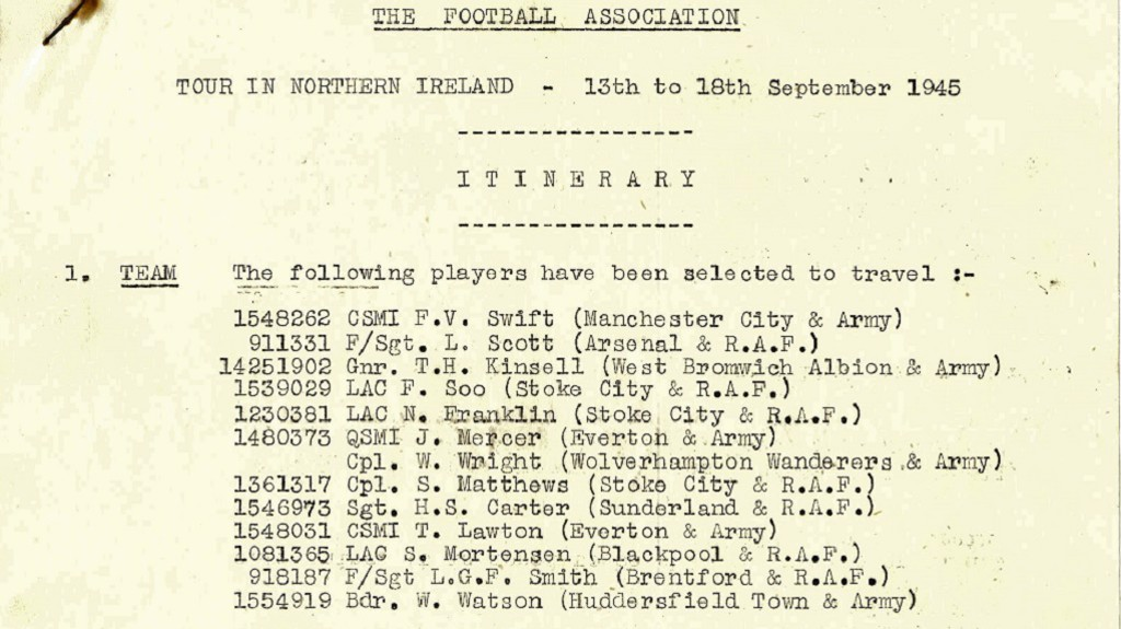 LETTER FROM THE F.A: Listing Frank and future City boss Joe Mercer
