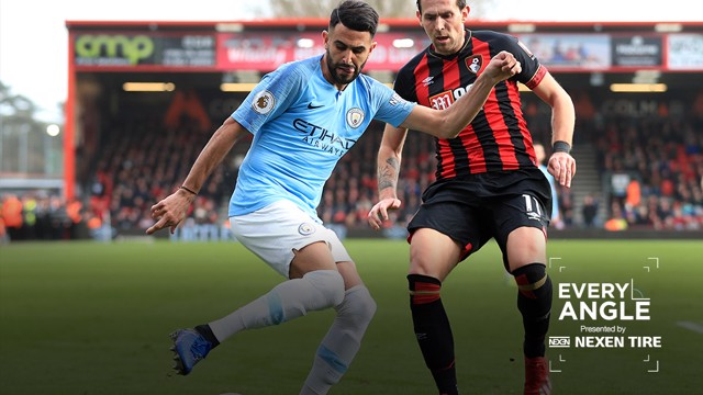 EVERY ANGLE: Watch Riyad Mahrez's winner at the Vitality Stadium in all its glory.