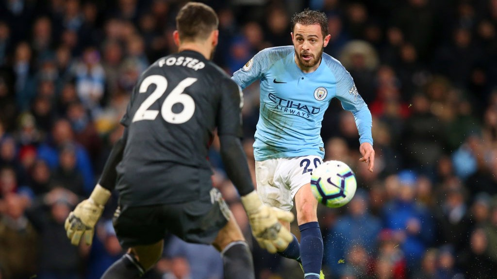 ONE ON ONE: Bernardo Silva in action against Watford.