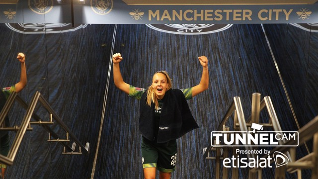 TUNNEL CAM: Behind-the-scenes at the Etihad Stadium as City beat United in the women's derby.